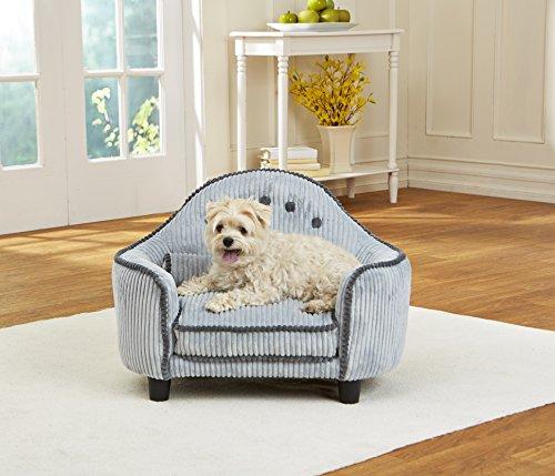 Hundesofa | Hundebett | Hundekissen | Hundelounge - Design Kopflehne in verschiedenen Farben erhältlich (Hell-Blau)