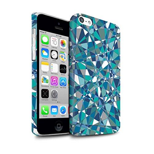 STUFF4 Matte Snap-On Hülle / Case für Apple iPhone 5C / Martini-Glas/Alkohol Muster / Teal Mode Kollektion Zusammenfassung Glas