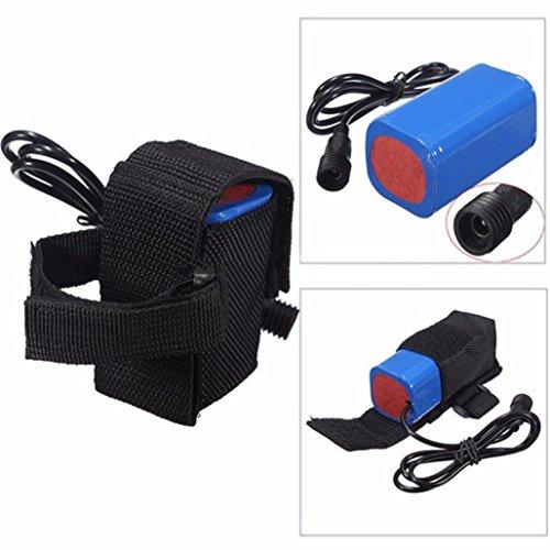 1 Packs 4X 18650 Wiederaufladbare Batterie + Tasche, Siswong 6400mAh 8.4V Batterie Für Scheinwerfer Fahrrad Licht Fackel 1 Pack-tasche