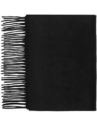 100% Cashmere Plain Scarf, Black