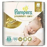 88 PAMPERS WINDELN (1x88 Windeln), Premium Care Gr.1 2-5 KgNEW BABY, NEWBORN mit Urin-Indikator