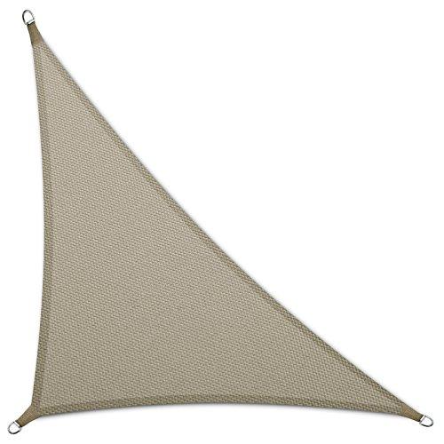 casa pura® Sonnensegel wasserabweisend imprägniert | Dreieck | Testnote 1.4 | UV Schutz Größen (grau, 5 x 5 x 7 m)