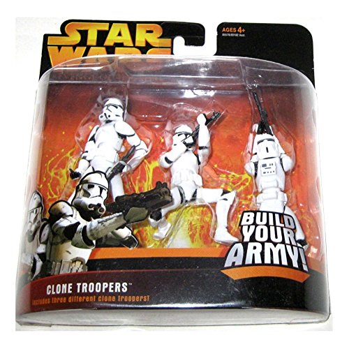 Clone Troopers (weiß) Star Wars Rache der Sith Action Figur 3er Pack