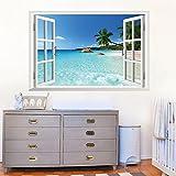 3D Strand Meer Fenster, Scenery Wand Aufkleber Abnehmbar Wandtattoo luckkyy - 2