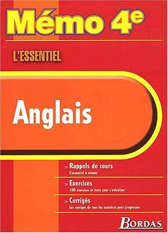 MEMO ESSENTIEL ANGLAIS 4E (Ancienne Edition)