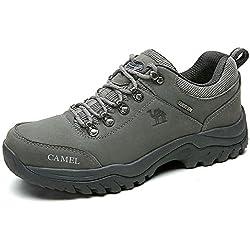 Zapatos de Senderismo al Aire Libre Zapatos de Escalada Zapatillas de Montaña Ideal para Deportes Caminar Caza atlético Adecuado para Damas de Hombres (UK9=EU43=10.43IN Feet Length, Grey)