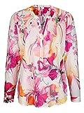 Alba Moda Damen Bluse im farbenfrohen Aquarelldruck