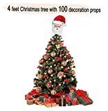 #5: TiedRibbons Christmas/xmas tree 4 feet with 100 Tree Hanging Ornaments | Christmas tree and decorations | Christmas tree for desk | xmas decoration items | xmas home decoration