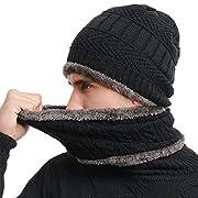 SWISSWELL Berretto Uomo per Inverno Caldo Berretto Uomo in Maglia con Sciarpa  Cappello Beanie Uomo e Sciarpa Regalo Set Donna Uomo Bambino Ragazzo Ragazza  ... 70c54c90c166
