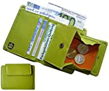 Josephine Osthoff Handtaschen-Manufaktur Leder Geldbörse Melody - Limone - mit Wiener Schachtel 8 Kartenfächer