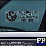 5x BMW Schwarz GPS Tracking Gerät Sicherheit Fenster Aufkleber 87x 30mm-34567E M F G Serie Auto, Van Alarm Tracker