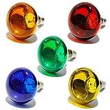 Lampadina colorata a incandescenza 60W R80 luce psichedelica spot COLORE ROSSO
