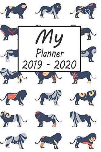 20: Lion Pattern Weekly Planner 2019 - 2020: 24 Month Agenda - Calendar, Organizer, Notes, Goals & To Do Lists ()