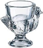 BHL Glass Hen Eierbecher, transparent, 3 Stück