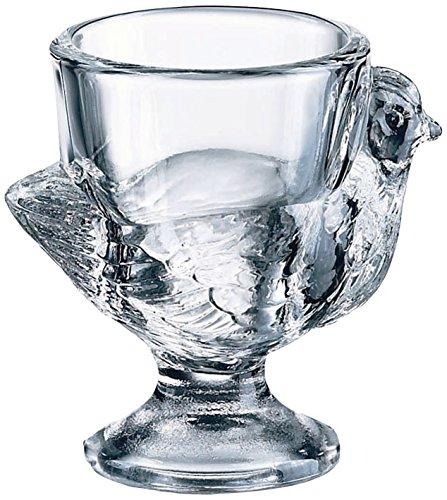 Luminarc 8849228 Coquetiers Poule Sodo Coupe à Chaud Transparent 23 x 5 x 8 cm - Lot de 3