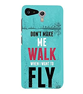 FUSON I Want To Fly 3D Hard Polycarbonate Designer Back Case Cover for Lenovo ZUK Z2 :: Lenovo Zuk Z2 Plus