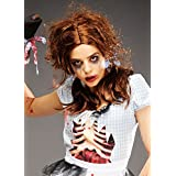 Womens Halloween Brown Zombie Dorothy peluca