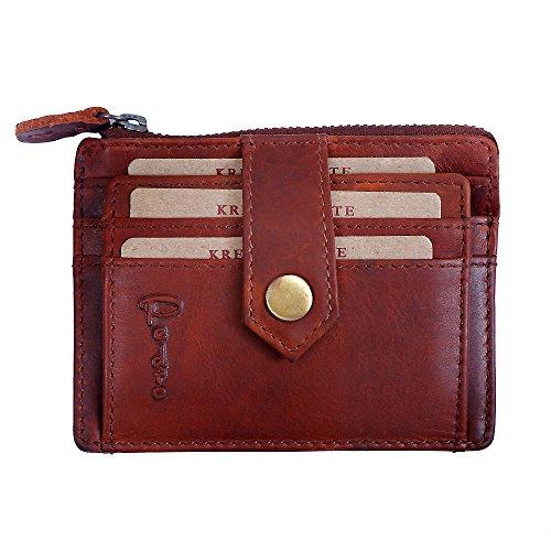 Pedro Geldkarten Visitenkarten Etui Platz 6 Kreditkarten geöltes Leder - Kreditkarte Beutel