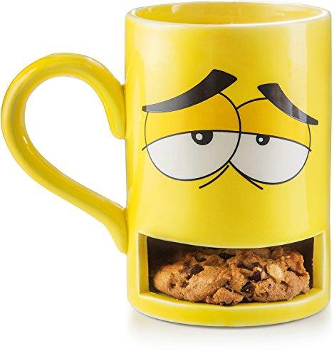 Donkey Products - Mug Monster - Keks Becher | Lustige gelbe Tasse mit praktischem Keksfach | Die...