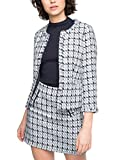 ESPRIT Collection Damen Blazer Tweed, Gr. 38, Mehrfarbig (LIGHT BLUE 440)