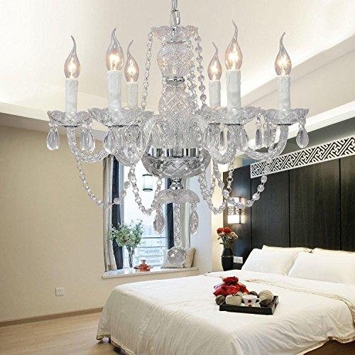 L'élégante lampe de lustre de cristal de verre de cristal d'occasion  Livré partout en Belgique