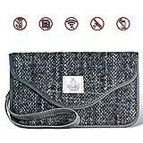 MONOJOY Keyless Go Schutz Autoschlüssel, Strahlenschutz Tasche für Wagen Schlüssel [ Harris Tweed ] RFID Strahlenschutz Tasche für Keyless Schlüssel, autoschlüssel Safe