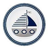 pimpalou 0180621 Melamin Kinder-Teller Maritim dunkelblau