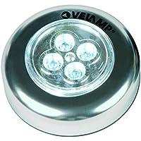 Velamp IL12 Mini Push Light in Alluminio, 3 LED