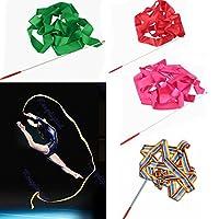 Bazaar 4M Gymnastic Art Streamer Ballet Dance Ribbon with Twirling Rod