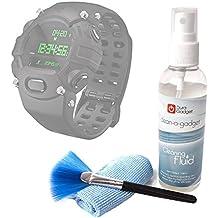 DURAGADGET Kit De Limpieza Para Razer Nabu Watch / Sony Smartwatch 3 Classic - Limpiador + Paño De Microfibra + Brocha - Anti Manchas