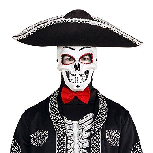 (NET TOYS Skelett Maske Sugar Skull La Catrina Todesmaske Totenkopfmaske Tag der Toten Mexikanische Totenmaske Dia de los Muertos Schädel Horrormaske Halloween Todesmaske)