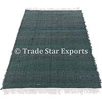 4x 6indiano Chindi Rug, Large area tappeto decorativo, reversibile tappeto passatoia, intrecciato a mano gettare etnico yoga Durries tappeti Pattern-3