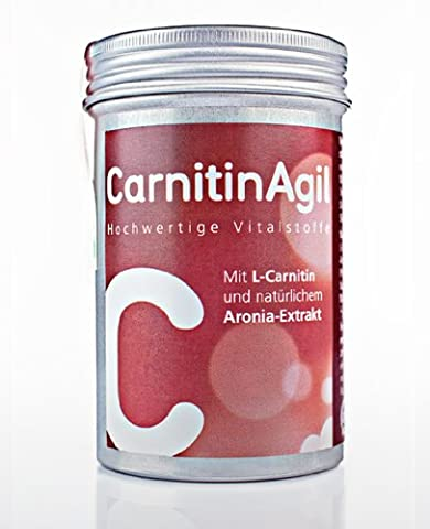 Agilpharma CarnitinAgil mit hochwertigem L-Carnitin, Aronia-Extrakt, Vitamin E, Mangan, Pfeffer-Extrakt (35 (Mangan 250 Tabletten)