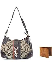 Holboro Special Couple Combo Single Strap Shoulder Handbag + Brown Wayfarer Sunglass For Women & Genuine High...
