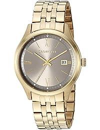 Caravelle Men's Quartz Stainless Steel Watch, Color Gold-Toned (Model: 44B122)