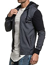 BLZ jeans - Gilet sweat capuche homme bleu navy fashion