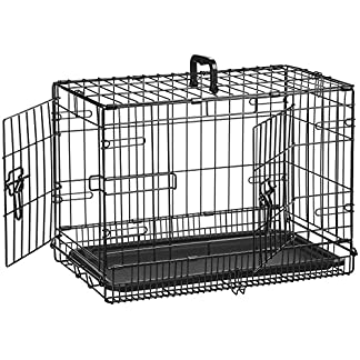 AmazonBasics Folding Metal Dog Crate 5167CkjF4aL