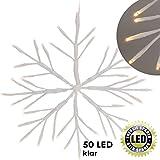 LED Eiskristall Schneeflocke Weihnachtsstern Stern mit 40 LED´s in Weiß