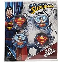 Joy Toy 301013–Superman Imanes 2.5cm de cristal, 4piezas en paquete de regalo, 1x 8.5x 9.5cm