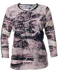 8c1d4987cde6 No Secret Damen Langarm Shirt Violett mit Glänzenden Punkten Tunika T-Shirt
