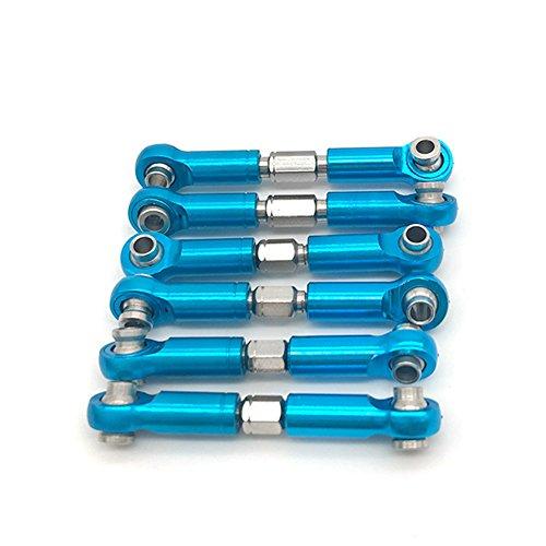 Gezichta 6pcs regolabile metallo Linkage tirante anteriore/posteriore servo Link per WLtoys A949A959A969A979K929RC auto aggiornamento ricambi accessori