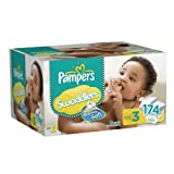Pampers Swaddlers Diapers Size 3 Economy Pack Plus,174 Count by Pampers