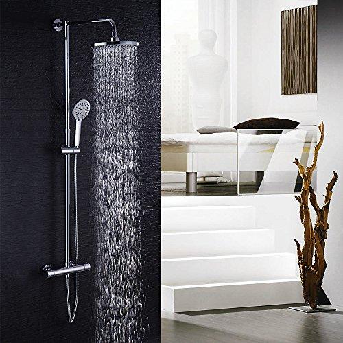 Hausbath Duschbrause-Set Überkopfbrause-Set Regal Duschsystem Sets mit Thermostat Duschset mit Rainshower Duscharmatur Handbrause Duschkopf Regendusche Dusche Armatur Badewanne Badezimmer