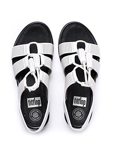 Fitflop Fitflop Iam_purepoison Lacci In Pelle Sandalo (perf) Urban Bianco Urban White