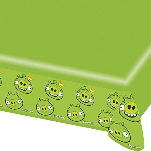 Angry-Birds-Tischdecke Lizenzartikel für Fans grün 180x120cm Einheitsgröße