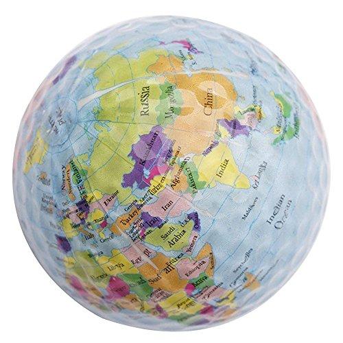 cloudwhisper 2Globe Karte Farbe Golf Bälle Praxis Golfbälle Golf Geschenk Kugeln blau -