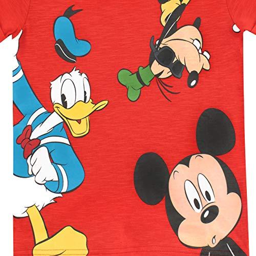 Disney Camiseta para niño Mickey Mouse el Pato Donald y Goofy