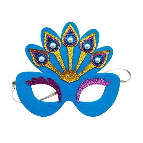 Amosfun Peacock Mask Light Up Mask Maskerade Cosplay Kostüm Maske (Zufällige Farbe)