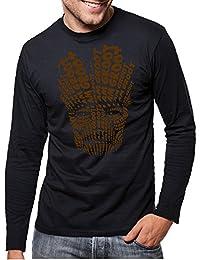 Touchlines Men Long Sleeve T-Shirt I am Groot Face