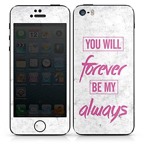 Apple iPhone SE Case Skin Sticker aus Vinyl-Folie Aufkleber Liebe Freundschaft Sprüche DesignSkins® glänzend